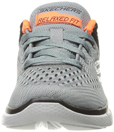 Skechers Equalizer 2.0 Post Season, Sneakers Basses Garçon Gris (Ccbk)
