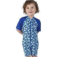 Juicy Bumbles Traje de Baño con Protección UV de Una Pieza para Bebés y Niños Pequeños - Traje de mangas cortas UPF50 + - De 6 meses a 3 años