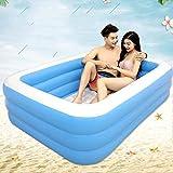Eeayyygch Pools, Badewannen, aufblasbare Badewanne für Erwachsene, stilvolles Zuhause, bequemes faltbares Bad, 2 Paar, aufblasbar, Blau, 196x143x60cm
