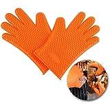 Candora™ guantes de silicona para barbacoa, antideslizantes, protege tus manos y evita accidentes, resistentes al agua y al calor, de cinco dedos