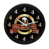 Wanduhr Kein Bier vor Vier