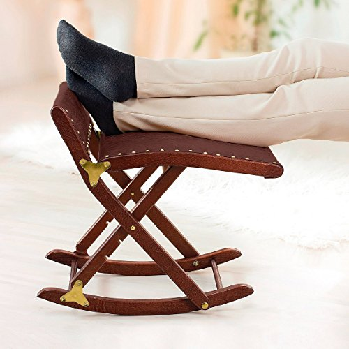 Hocker aus Holz für die Beine auch genannt Beinschaukel