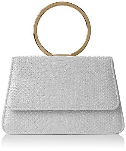 SwankySwans Damen Piper Snakeskin Pu Leather Clutch Bags Grey Tasche Grau