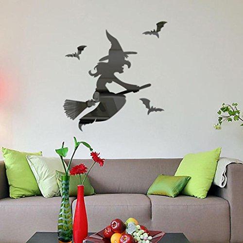 Wandaufkleber,Wandtattoo Wandsticker Halloween Ghost Hintergrund Dekoriert Wohnzimmer Schlafzimmer Moginp (C)