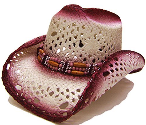 modestone-womens-straw-chapeaux-cowboy-cranberry-off-white
