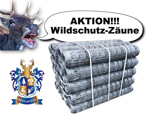 50m BEST4FORST Wildzaun Forstzaun Weidezaun Drahtzaun Knotengeflecht 125/13/15