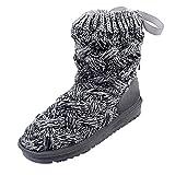 Damen Warm Winterstiefel,Bow Wool High Tube Schneeschuhe Warm Boots Schuhe Winter Schneeschuhe Mode Flache Boots Outdoor Booties Stiefeletten Für Damen Ankle Stiefel Schwarz Winterschuhe Felicove