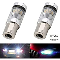 K-Bright 2 x 1156 S25 BA15S 100W LED Backup Light Car Reverse Bulb Lamp 3030 LED 20SMD DC 12V Auto Tail Turn Signal/Daytime Running Light Fog Light Bulb