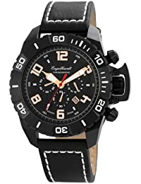Engelhardt Herren-Armbanduhr XL Analog Automatik Leder 388971029003