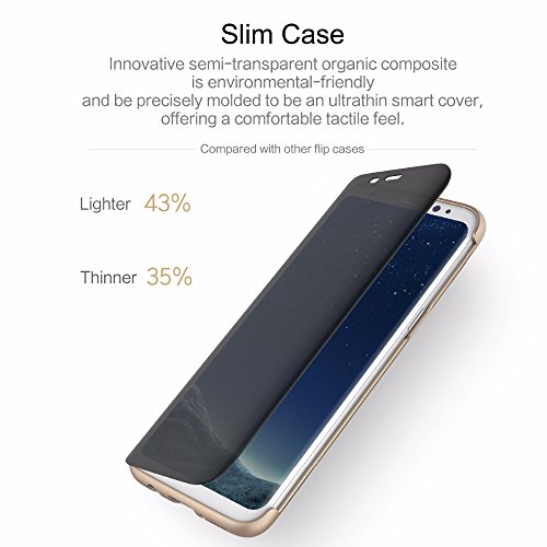 Rock Dr. V Series Protection Case Flip Cover for Samsung Galaxy S8 Plus Golden Color