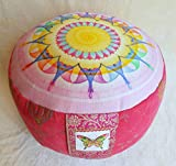 Meditationskissen Yogakissen mit abnehmbarem Bassetti Bezug Tantra Meditation Lotos Mandala Yoga in