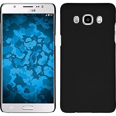 Coque Rigide pour Samsung Galaxy J5 (2016) J510 - gommée noir - Cover PhoneNatic Cubierta + films de protection