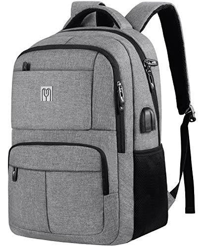 Laptop Rucksack 15.6 Zoll,Arbeit Rucksack Schulrucksack mit USB-Ladeanschluss und Laptopfach,Wasserdicht für Büro Reisen Schule