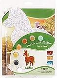 MAMMUT 113004 - Malen nach Zahlen Top in Form, Tiermotiv, Pferd, Komplettset mit bedruckter und gestanzter Malvorlage, 7 Acrylfarben und Pinsel, Malset für Kinder ab 5 Jahre