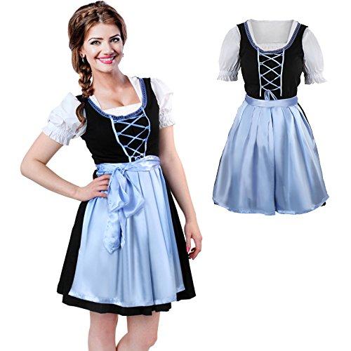 Jago Trachtenkleid 3 TLG. Dirndl Kleid Set Oktoberfest Kostüm in Mehreren ()