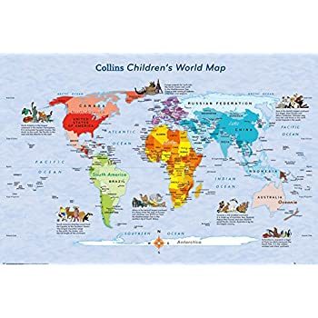 Gb eye 61 x 915 cm world map childrens map maxi poster amazon gb eye 61 x 915 cm world map childrens map maxi poster gumiabroncs Image collections