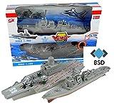 BSD Porte-Avions et Le modèle de cuirassé avec Le Son et la lumière - Porte-Avions avec Avions Militaires, des hélicoptères...
