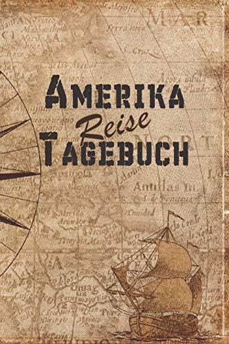 Amerika Reise Tagebuch: 6x9 Reise Journal I Notizbuch mit Checklisten zum Ausfüllen I Perfektes Geschenk für den Trip nach Amerika für jeden Reisenden