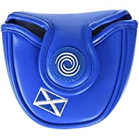 Calaway Escocia Mallet Funda Putter de Golf, Blanco/Azul, Única