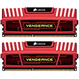 Corsair CMZ16GX3M2A1600C10R Vengeance 16GB (2x8GB) DDR3 1600 Mhz CL10 XMP Performance Desktop Memory Kit Red