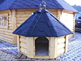 JUNIT 8 Eck Hundehütte Hundehaus Hundeschlafplatz Tierhaus Hundekota