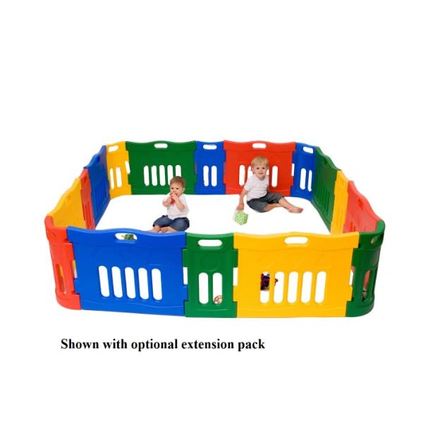 Jolly Kidz Toys Versatile Playpen Extension Liberty House Toys Ideal solution for creating a safe, controlled environment for younger children to play Bright and colourful, extendable and portable, tough and durable Suitable for children up to 5 yrs old 2