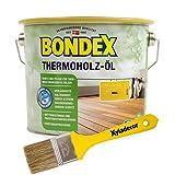 Bondex Terrassenöl 2,5 Liter, hell (Lärche und andere helle Hölzer) inkl. gratis Xyladecor Pinsel