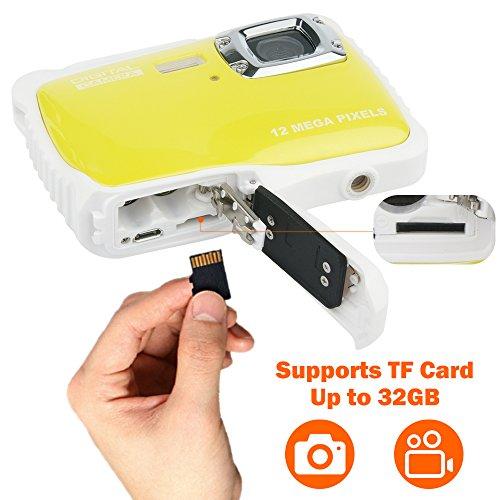 DIDseth Digital Cámara | Mini cámara con 12MP HD 5MP Sensor CMOS, cámara para niños HD 720p Función de Video - Impermeable a 3 Metros