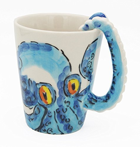 Hand Painted Dessert (Homee Handmade Creative Art Mug Hand-painted Ceramic Cups Africa Style (octopus) by HOMEE)