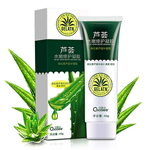 Tyro 40g Coolsee Aloe Vera Gel Soothing Skin Care Remove Acne Moisturizing Hydrating Cream - #0 -