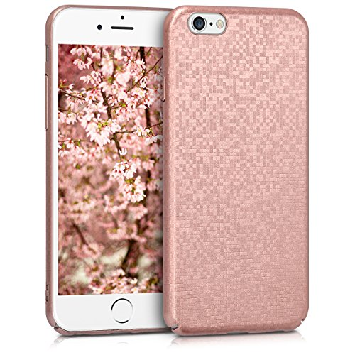 kwmobile Hard case Design mosaic glitter for Apple iPhone 6 / 6S in rose gold