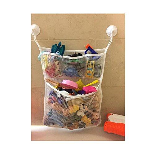 Bad Spielzeug Aufbewahrung Organizer, huijukon Quick Dry Bad Spielzeug Aufbewahrung, groß Mesh Bad Spielzeug Halter + 4Saugnapf Haken (45,7x 53,3cm)