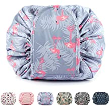 Portable Lazy Drawstring Makeup Bag Travel Cosmetic Pouch Toiletry Organizer Waterproof Large for Women and Girls