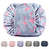 Portable Lazy Drawstring Makeup Bag Travel Cosmetic Bag Pouch Toiletry Organizer Waterproof Large for Women and Girls