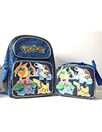 "Pokemon Pikachu 16"" Full Size School Backpack With Lunch Bag Set By Pok©Mon"