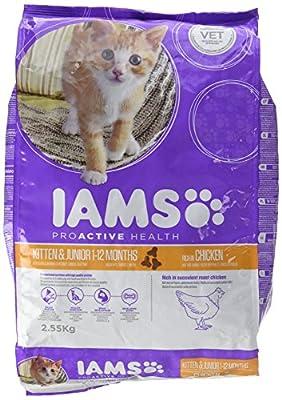 Iams Dry Cat Food Kittenand Junior Chicken 2.55 Kg