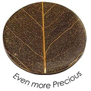 Quoins QMNK-L-BL-BR Münze Platte Even more precious large braun Bambusblatt