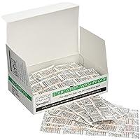 Steroplast 7149F hipoalergénica lavar prueba & Clear Plasters–STEROSTRIP Surtido en Caja de cartón (5tamaños) (Pack de 100)