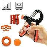Supmaker Hand Grip Strengthener Set Adjustable Hand Gripper, Finger Exerciser, Finger Stretcher, Exercise