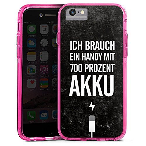 Apple iPhone X Bumper Hülle Bumper Case Glitzer Hülle Akku Handy Phrases Bumper Case transparent pink