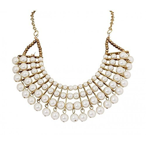 Arittra Alloy White Pearl Pendant Set With Matching Earrings For Women