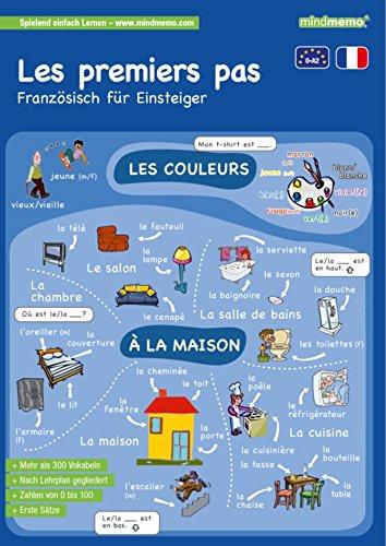 mindmemo Lernfolder - Les premiers pas - Französisch für Einsteiger - Vokabeln lernen mit Bildern - Zusammenfassung: genial-einfache Lernhilfe - ... - Din A4 6-seiter + selbstklebender Abhefter
