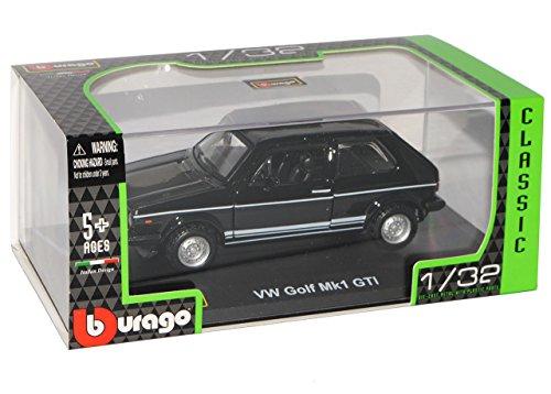 VW Volkswagen Golf 1 GTI Schwarz 3 Türer 1974-1983 1/32 Bburago Modell Auto mit individiuellem Wunschkennzeichen - 5