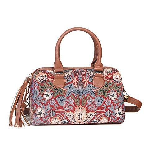 Signare sac d'épaule à poignée tapisserie mode femme Fraise voleur rouge