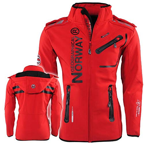 Geographical Norway Royaute Herren Softshell Jacke Rot Gr. L