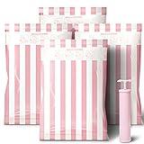 Reise 10 Vakuum Kleiderbeutel Beutelgr/ö/ße: Jumbo XL /& Med Bettw/äsche Kompressionsbeutel zur Aufbewahrung von Kleidung Kissen Vakuumbeutel DIBAG Bettdecken Vakuum Aufbewahrungsbeutel