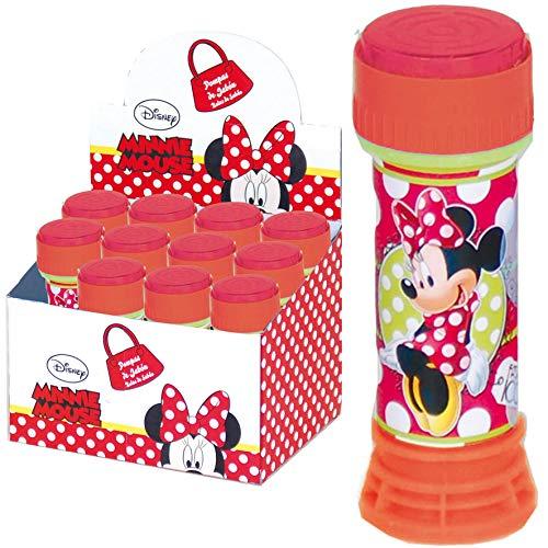 Disney: 6X Seifenblasen * Minnie Mouse * | Mitgebsel zum Kindergeburtstag, Sommerparty und Kinderparty ┃ Kinder lieben Diese Bubbles | Spiel & Spaß