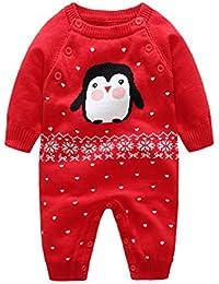 Mameluco Bebé niño niña de manga larga Invierno Traje Monos Cartoon Animal Pijamas Ropa
