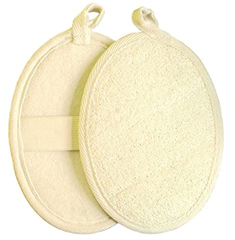 Exfoliating Loofah Pad-2 Pack 100% Natural Loofah
