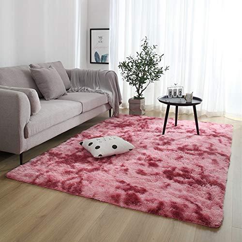 XTUK Home Decoration Teppich Teppich Pink Crimson Modern Style Teppiche Hochfloriger Teppich Weiche Note Dicker Qualität Dichter Stapel Home Floor Hochfloriger Hochfloriger Qualität